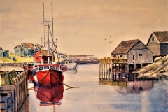 """Kenneth Faust's Peggy's Cove, 28"""" x 24"""", $650"""