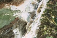 "Mary Jo Ketchum's Rainforest Waterfall, 14"" X 18"", $225"