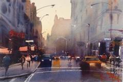 Alvaro Castagnet- City Scape 14 x 18 Price $800
