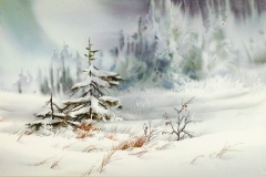 Zoltan Szabo- Winter Landscape 32 x 24 Price $1200