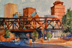 "David Gardner, Rochester Skyline, 15 "" x 19"" image"