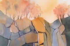 """Diane Gianadda, Niagara Gorge Autumn, 11"""" x  15"""" image"""