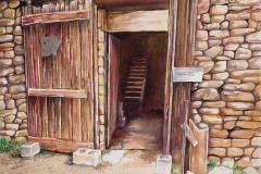 "George Banagis, Barn  Door in Cambria, 15"" x 23"" image"
