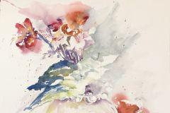 "Linda Scarafia Davis, Flowers for Michele, 20"" x 20"" image"