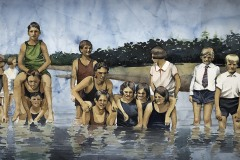 "Robin Zefers Clark, Reunion, 14"" x 26"" image"