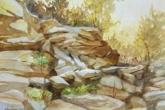 """Timothy Kerr, Devil's Hole Climb, 11"""" x 14"""" image"""