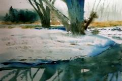 "Tom Baldwin, Gott Creek, 14"" x 21"" image"