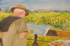 """""""Plein Air Painter"""" by Roy Fink, $200"""
