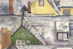 """Rooftops from 1088"" by Mary Jo Ketchum, $225"