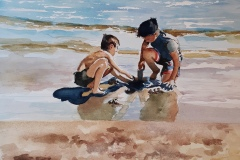 """Boys at the Beach"" by Jennifer Parsons, nfs"