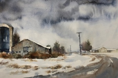 """""""Barn on Angling Road"""" by Louise Vacco, $300"""