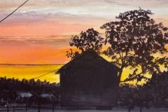 """Sunset on Market Street"" by Rebecca Wilson, $375"