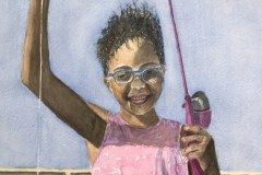 """""""Caught One"""" by Kathy Woike, $150"""