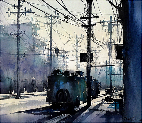 ThomasSchaller-Glencoe Avenue Morning - Los Angeles